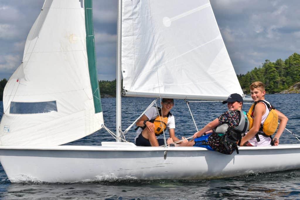 sailing at Camp Hurontario