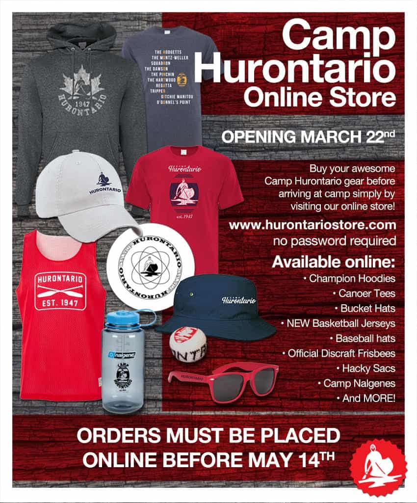 Camp Hurontario Online Store